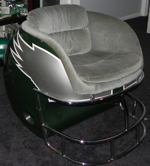 Superb Circa 1980 Philadelphia Eagles Helmet Chair. These Chairs Were Reportedly  Made For A Casino Bar In Las Vegas And Are Very Hard To Find.