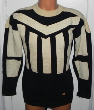 09a84f794 Beautiful 1920's Spalding Scarce Friction Strip Style Football Wool Jersey.